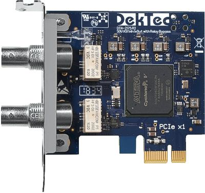 DTA-2175 - HD-SDI/ASI input+output with relay bypass for PCIe