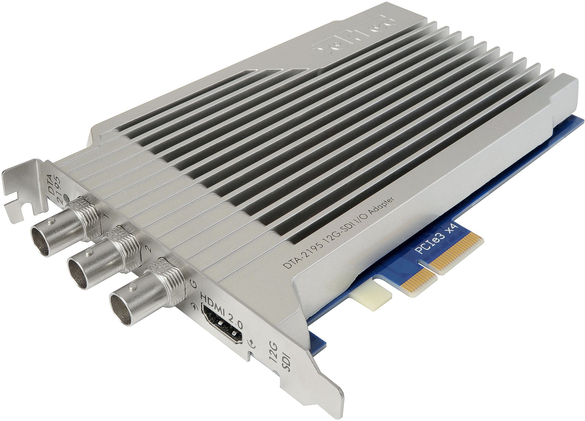 12G-SDI and HDMI 2.0 connectivity for PCI Express bus